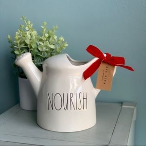 "💧Rae Dunn • ""Nourish"" Ceramic Watering Can"
